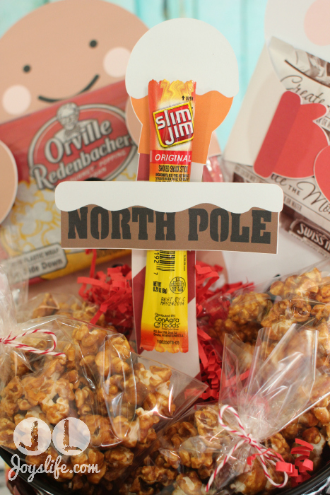 North Pole Slim Jim #BeefJerky Holder #EasyGifts Basket #shop