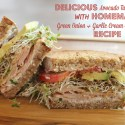 Delicious Avocado Turkey Sandwich with Homemade Green Onion & Garlic Cream Cheese Spread Recipe