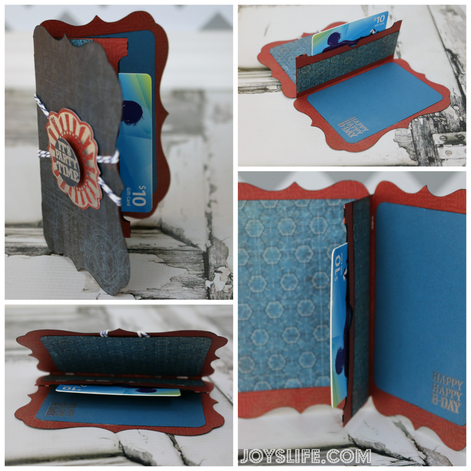 Cricut Artiste It's Party Time Gift Card Holder #Cricut #CricutArtiste #CTMH #GiftCardHolder