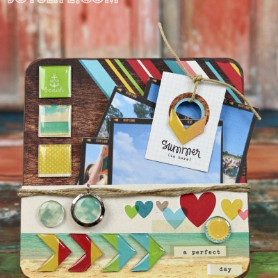 A Perfect Summer Day Chipboard Display with Epiphany Crafts