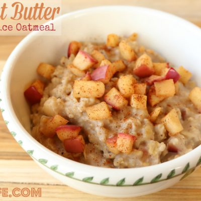 Peanut Butter Apple Spice Oatmeal Recipe + $25 Walmart GC Giveaway