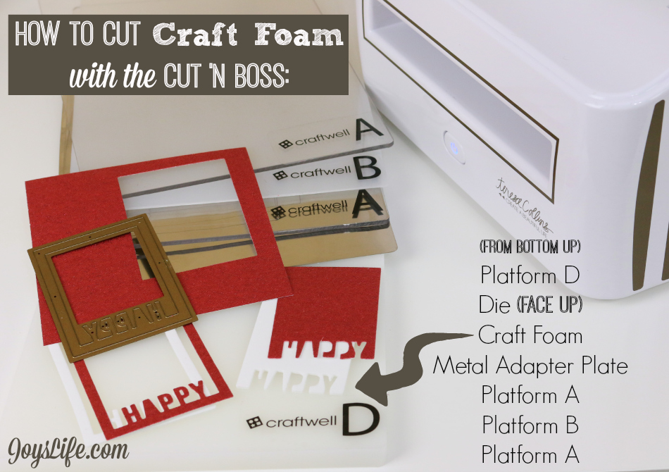 How to Cut Craft Foam with the Cut N Boss & How to Make a Birthday Shaker Tag #Craftwell #TeresaCollins #CutNBoss
