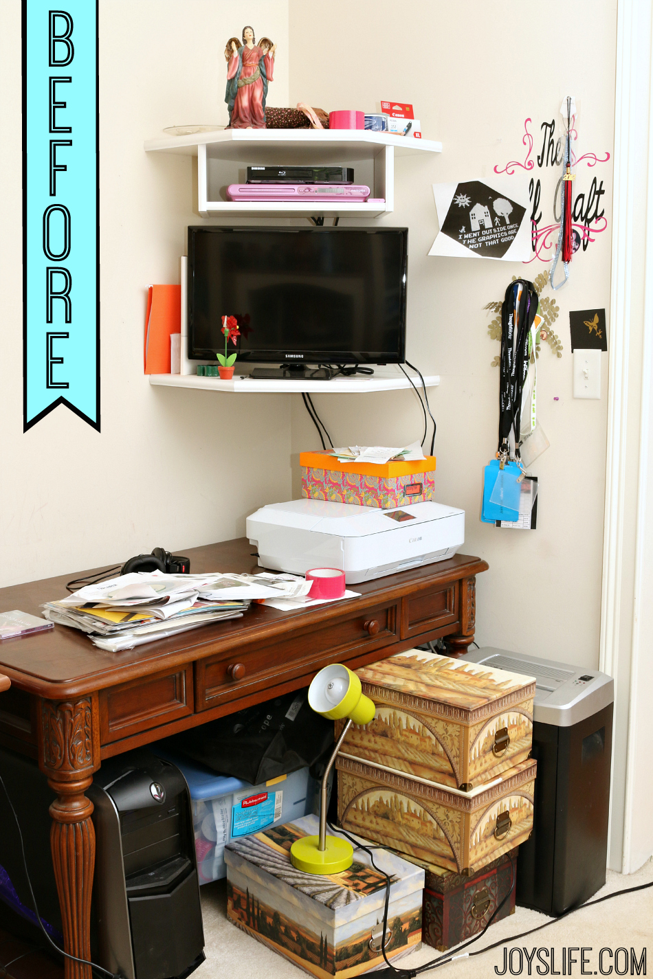 Homework Station for Teens #ad #DollarGeneral #makeover #diy