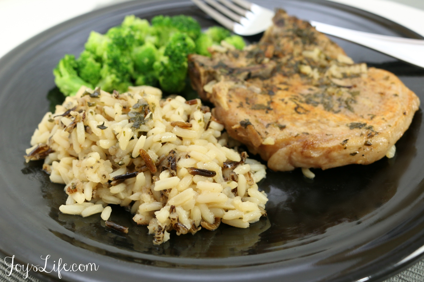 Easy Baked Pork Chops and Rice #justaddrice ad