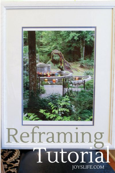How to Reframe Art Using Thrift Store & Markdown Frames
