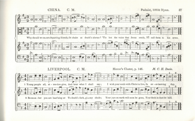 Page 37 of The Sacred Harp, third edition, 1859.
