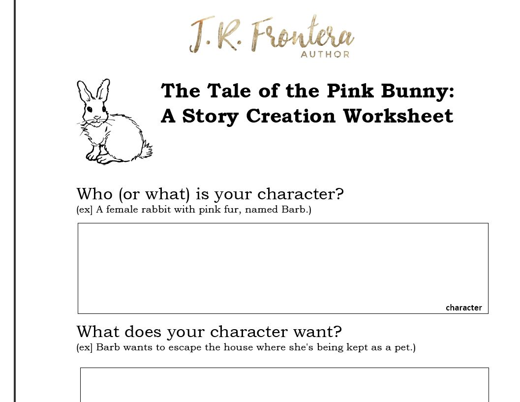 The Tale of The Pink Bunny A Story Creation Exercise – Creating a Character Worksheet