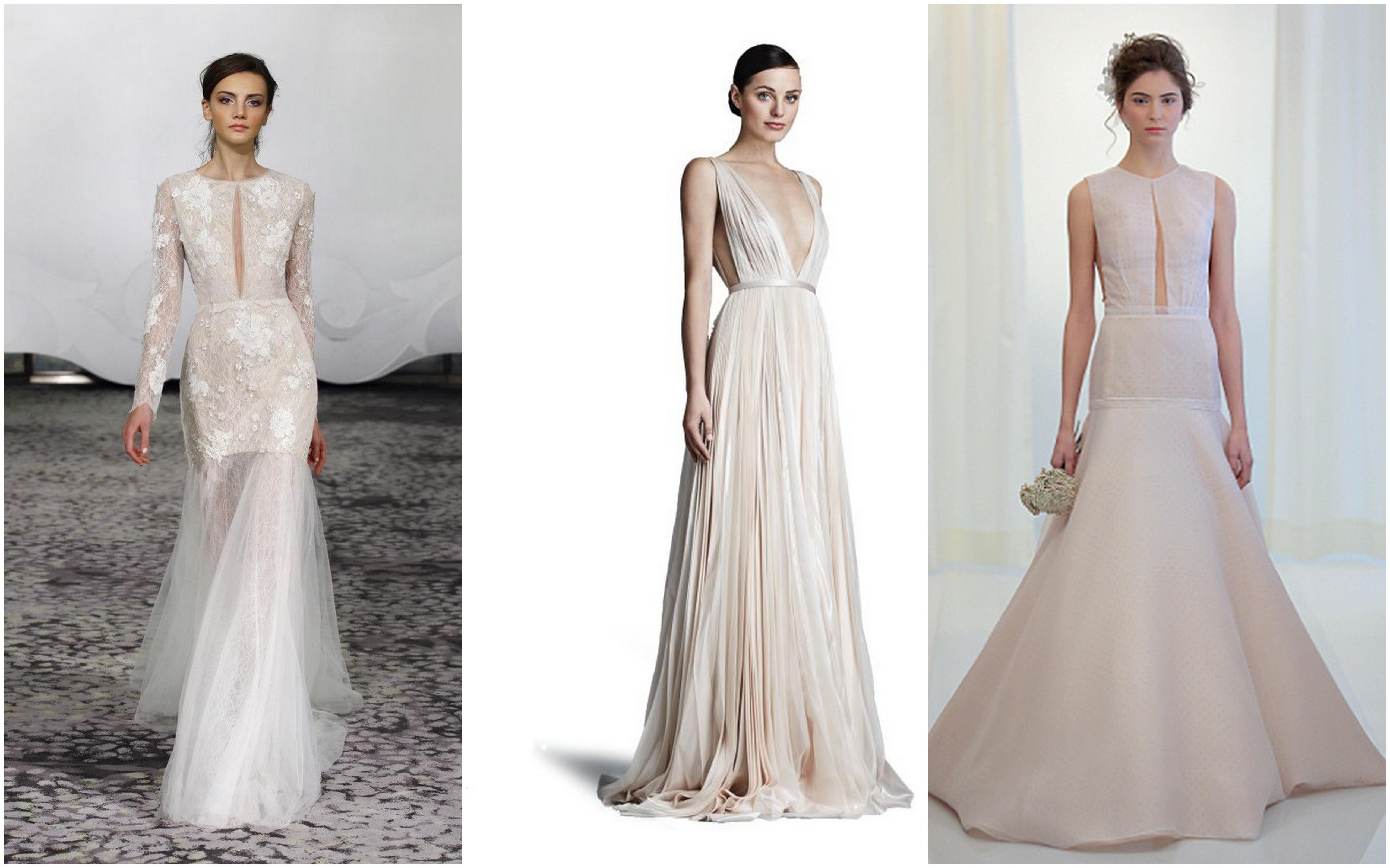 wedding dress trends plunge wedding dress Wedding Dress trends Keyhole and Plunge