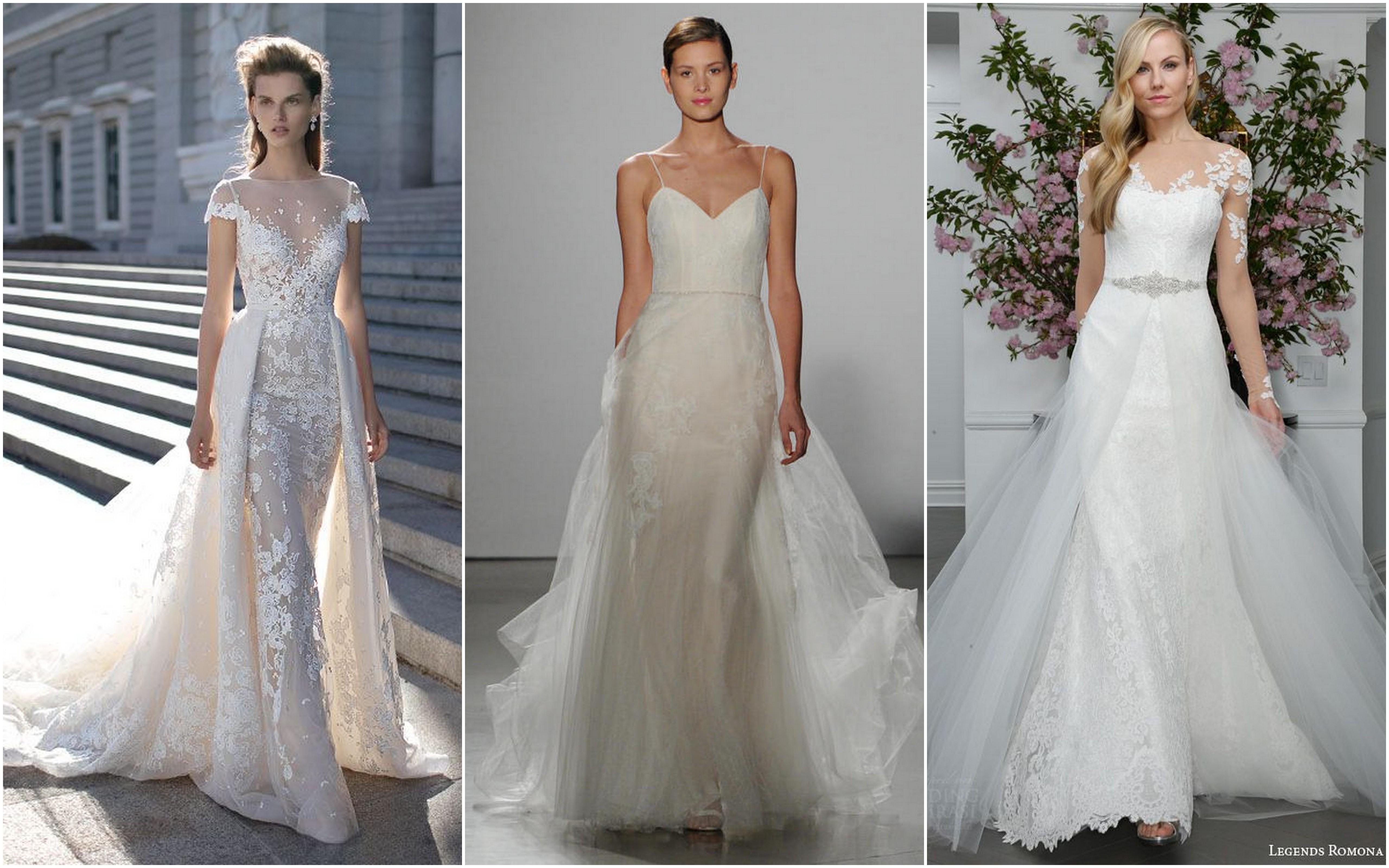 wedding dress trends trending wedding dresses Wedding Dress trends Overskirts and Sheer Skirt