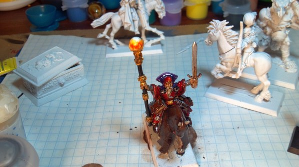 Mounted Mage hand painted miniature. Click to Enlarge.