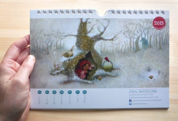 Storybook Brushes 2013 Calendar Giveaway - Month of January