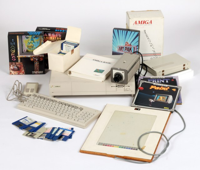 Commodore Amiga computer equipment used by Andy Warhol 1985-86, courtesy of The Andy Warhol Museum.