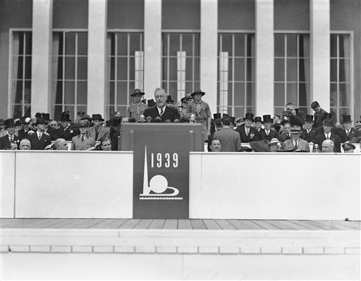 President Franklin D. Roosevelt opens the 1939 World's Fair. (AP Photo/John Lindsay)