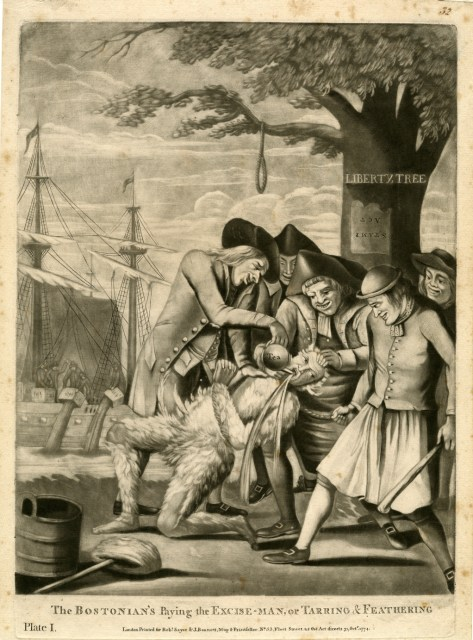 The Bostonian's Paying the Excise-Man, or Tarring & Feathering, 1774