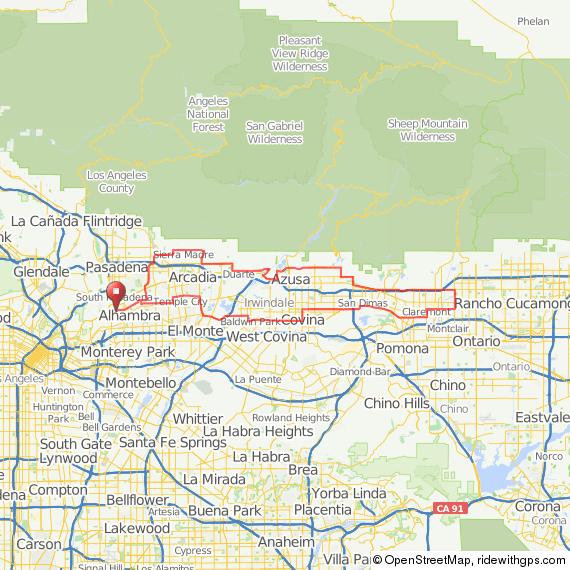 LA Wheelmen: Santa Anita Canyon ride