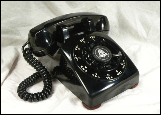 A phone that would be a common sight in the United States.