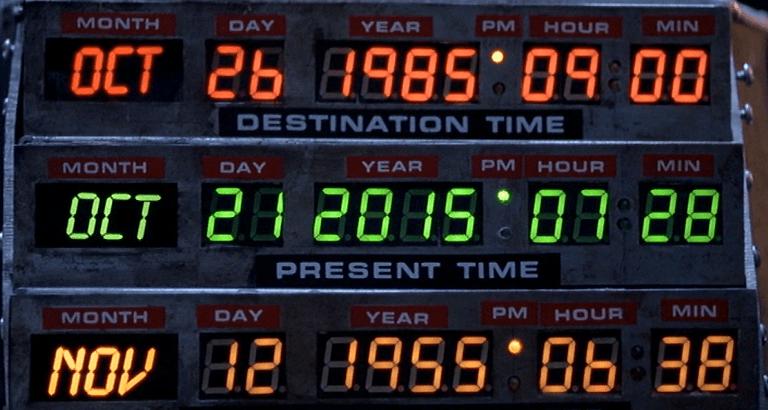 Calendario regreso al futuro