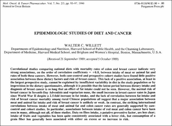Cancer Diet study
