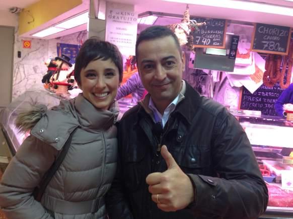 Julia Varela con un servidor