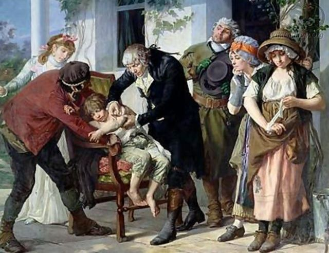 The first vaccination