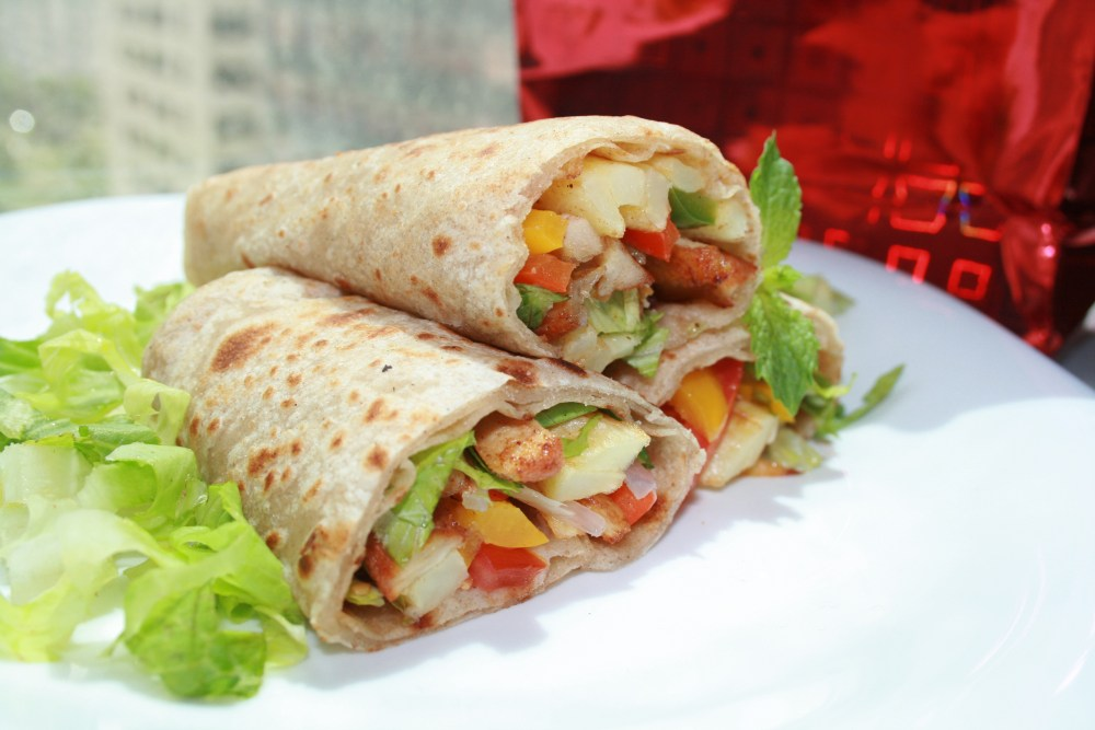 Chicken and Vegetable Wraps  (1/3)