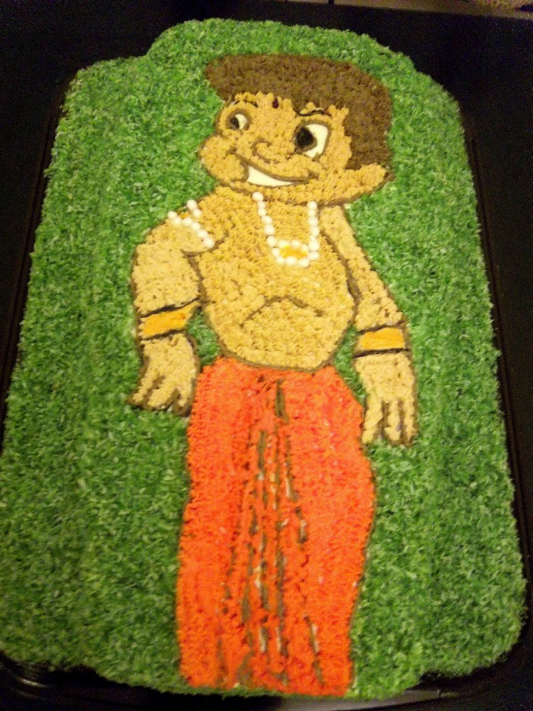 Chota Bheem Buttercream Cake (1/3)