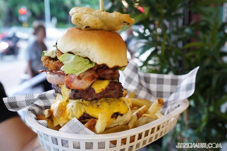 Hashtag Burgers Unicorn Hotel Paddington