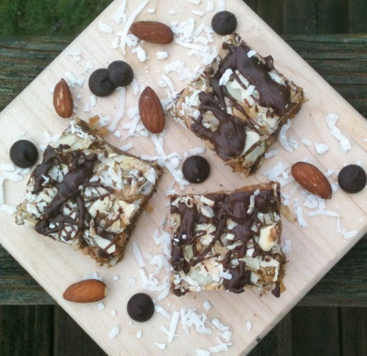 Almond Joy Bars -- Juggling With Julia