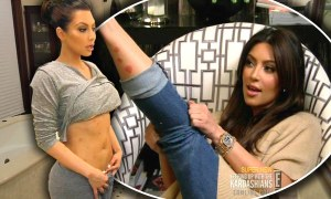 "In the latest episode of Keeping Up With The Kardashians, Kim is upset to find out a rash on her leg is psoriasis - a hereditary and incurable skin disease - and that it spreads to her body on the eve of a big commercial shoot. She then becomes angry at her mum, who has the condition, for passing it on to her, not warning her about it and telling her not to 'whine'. Eventually she gets it covered with make up and nails the shoot. Meanwhile, Bruce Jenner is shocked to find out 15-year-old daughter Kendall is getting birth control pills when he goes to pick up a prescription for her. He argues with wife Kris who tells him it is just to help her with cramps and persuades him to have 'the talk' with Kendall and younger sister Kylie after dinner - when Khloe reveals her first experience was with an older man who ""like forced me"" into it.  Pictured: Kim Kardashian Ref: SPL300391  240711   Picture by: E! / Splash News Splash News and Pictures Los Angeles: 310-821-26"