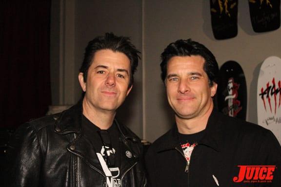 Riki Rachtman and Art Godoy. Photo: Dan Levy