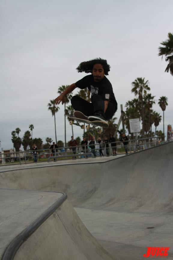 Front grab over the hip.