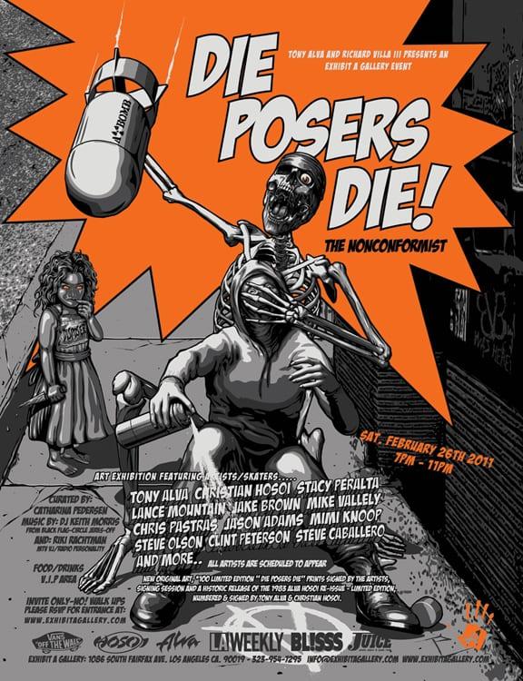 Die Posers Die Ad. Photo: Dan Levy