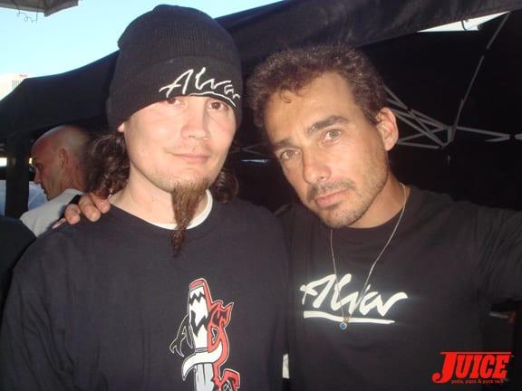 Richard Villa and friend representing Alva.