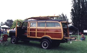 International Harvester - four wheel drive woodie. Photo: Jeff Ho