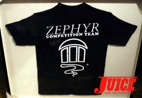 Zephyr competition shirt. Photo: Dan Levy