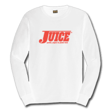 Juice Pools Pipes and Punk Rock White Long Sleeve TShirt