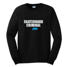 Juice Skateboard Criminal Black Long Sleeve TShirt