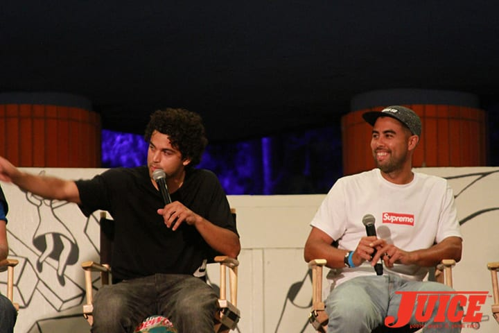 PAUL RODRIGUEZ AND ERIC KOSTON. WEST L.A. COURTHOUSE. PHOTO BY DAN LEVY.