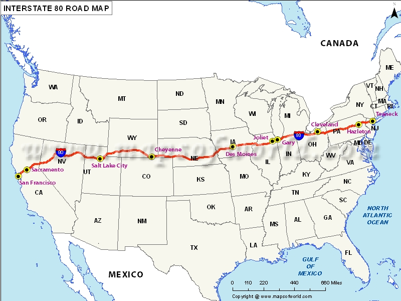 Us Map Of Interstate Highways - Map of us interstates and highways