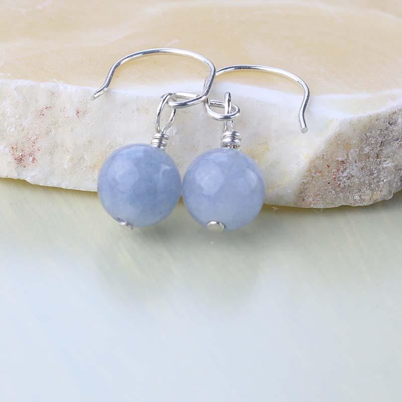 Aquamarine minidrop earrings
