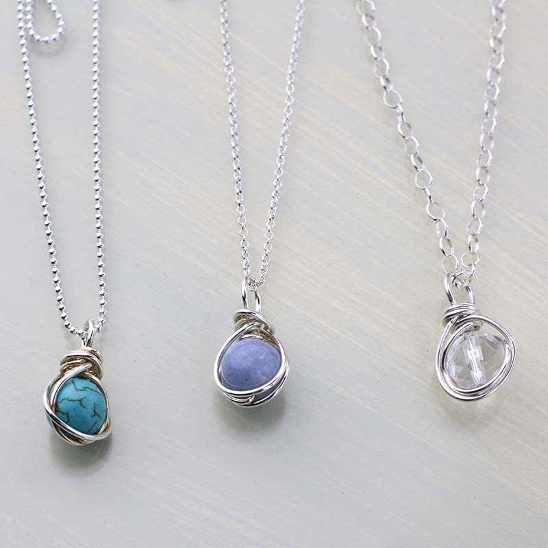 Chains for gemstone pendants
