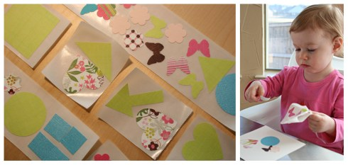 Mommy makes stickers, Jenna makes cards