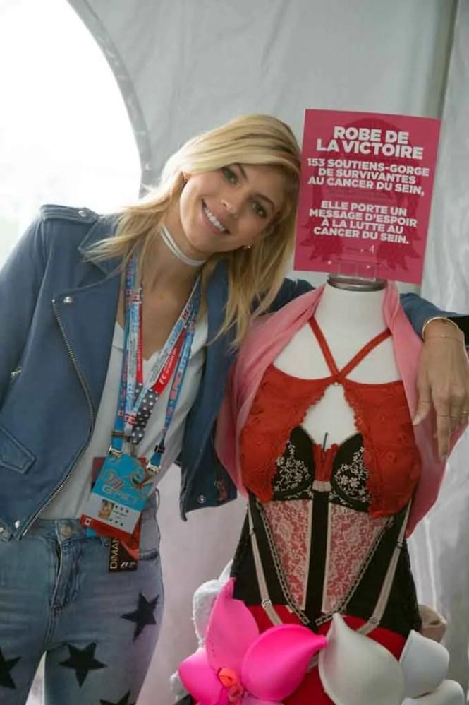 "Devon Windsor, ""Angel"" Victoria Secrets model posing with La Robe de la Victoire"