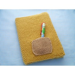 Indoor Finished Item A Book Cover Julie Knits How To Wrap A Book Cover How To Wrap A Book Ly