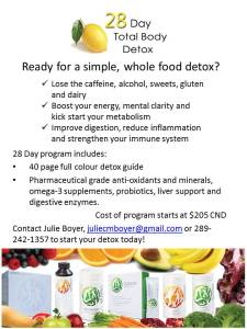 28 Day Total Body Detox Program Flyer