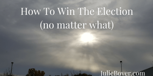 how to win the election