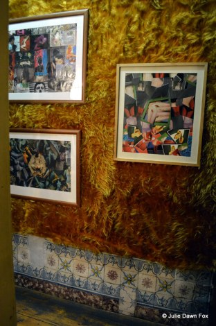 Furry walls with tiles and paintings