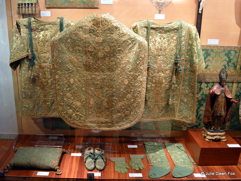 Green and gold vestments
