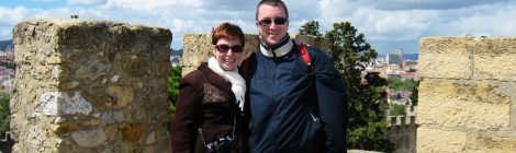 Alison Cornford-Matheson and husband in Portugal