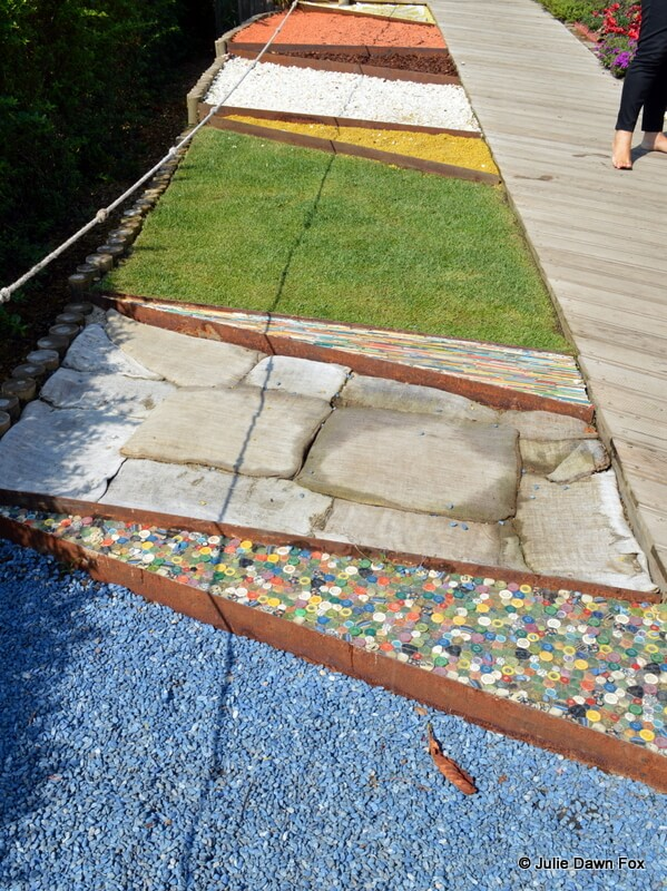 Different textures on a footpath, Awakening the Senses, International Garden Festival, Ponte de Lima